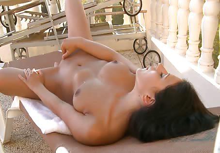 Petite girl masturbating