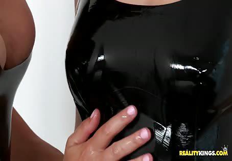 Natural lesbian tits